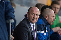 Accrington Stanley manager John Coleman ahead of the Sky Bet League 2 match between Newport County and Accrington Stanley at Rodney Parade, Newport, Wales on 28 March 2016. Photo by Mark  Hawkins.
