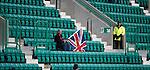 A lone Rangers fan sits dejectd at the end