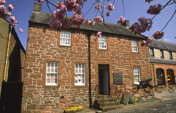 Burns House Dumfries where the poet Robert Burns stayed Scotland UK