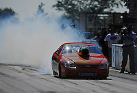 Jul, 8, 2011; Joliet, IL, USA: NHRA pro stock driver Dave River during qualifying for the Route 66 Nationals at Route 66 Raceway. Mandatory Credit: Mark J. Rebilas-