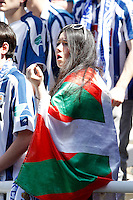 Real Sociedad's supporter before La Liga match.April 14,2013. (ALTERPHOTOS/Acero)