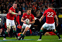 Rhys Webb prepares to pass during the 2017 DHL Lions Series rugby union match between the Blues and British & Irish Lions at Eden Park in Auckland, New Zealand on Wednesday, 7 June 2017. Photo: Dave Lintott / lintottphoto.co.nz