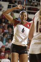 28 October 2005: Franci Girard during Stanford's 3-0 win over Oregon State in Stanford, CA.