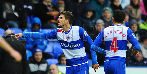 12.01.2013 Reading, England.  Reading's new signing Daniel Carriço during the Premier League game between Reading and West Brom at the Madejski Stadium.