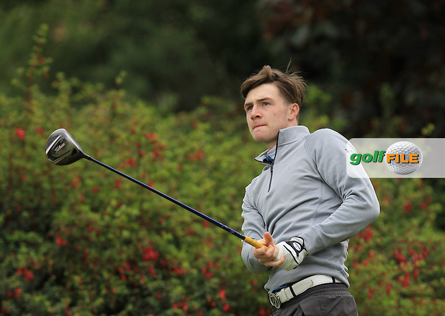 Jake Rowe (Tandragee) on the 14th tee during R2 of the 2016 Connacht U18 Boys Open, played at Galway Golf Club, Galway, Galway, Ireland. 06/07/2016. <br /> Picture: Thos Caffrey   Golffile<br /> <br /> All photos usage must carry mandatory copyright credit   (&copy; Golffile   Thos Caffrey)