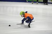 SHORTTRACK: DORDRECHT: Sportboulevard Dordrecht, 24-01-2015, ISU EK Shorttrack, Itzhak DE LAAT (NED | #50), ©foto Martin de Jong