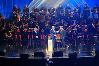 Tom Watson (Captain) during the Ryder Cup Gala Concert 2014 at SSE Hydro on Wednesday 24th September 2014.<br /> Picture:  Thos Caffrey / www.golffile.ie