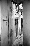 Shatila, UNRWA camp. A maze of small alleys in the shadow of anarchic constructions.<br />  <br /> Chatila, UNRWA camp. Un d&eacute;dale de ruelles &agrave; l'ombre de constructions anarchiques.