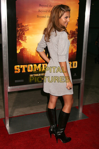 "LIZ HERNANDEZ.""Stomp The Yard"" Los Angeles Premiere at Arclight Cinemas, Hollywood, California, USA, 8 January 2007..full length back behind knee high boots hand on hip grey dress.CAP/ADM/BP.©Byron Purvis/AdMedia/Capital Pictures."