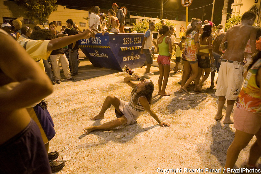 Street Carnival, Brazil. Community party known as Carnavila at Vila de Ponta Negra quarter in Natal city.