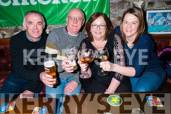 New Year 2018: Celebrating the new year at Tankers Bar, Listowel  were John O'Carroll, Sean & Marie  Brosnan & Dumpna O'Carroll.