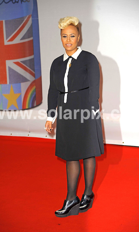 **ALL ROUND PICTURES FROM SOLARPIX.COM**                                             **WORLDWIDE SYNDICATION RIGHTS**                                                                                  Stars arrive at London's O2 Arena for the 2012 Brit Awards..This pic:   Emeli Sande                         .JOB REF:    14495   MSR     DATE:   22.02.12                                                         **MUST CREDIT SOLARPIX.COM OR DOUBLE FEE WILL BE CHARGED**                                                                      **MUST AGREE FEE BEFORE ONLINE USAGE**                               **CALL US ON: +34 952 811 768 or LOW RATE FROM UK 0844 617 7637**