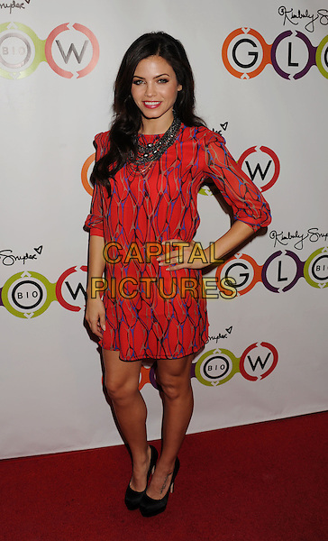 Jenna Dewan Tatum.The Opening of Kimberly Snyder's Glow Bio in West Hollywood in West Hollywood, California,.November 14th, 2012.full length red blue print silver chains necklace hand on hip black shoes platform sleeves .CAP/ROT/TM.©Tony Michaels/Roth Stock/Capital Pictures