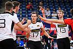 16.09.2019, Lotto Arena, Antwerpen<br />Volleyball, Europameisterschaft, Deutschland (GER) vs. …sterreich / Oesterreich (AUT)<br /><br />Jubel Ruben Schott (#3 GER), Tobias Krick (#2 GER), Jan Zimmermann (#17 GER), Simon Hirsch (#13 GER)<br /><br />  Foto © nordphoto / Kurth