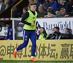 Ross Barkley of Chelsea warms up during the premier league match at the Turf Moor Stadium, Burnley. Picture date 19th April 2018. Picture credit should read: Simon Bellis/Sportimage