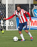 Santa Clara, California - Sunday May 13th, 2012: Blair Gavin of Chivas USA in action during a Major League Soccer match against San Jose Earthquakes at Buck Shaw Stadium