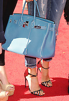 WWW.BLUESTAR-IMAGES.COM  TV personality Brooke Burke (handbag, shoe detail) at the Los Angeles premiere of 'The Lego Movie' held at Regency Village Theatre on February 1, 2014 in Westwood, California.<br /> Photo: BlueStar Images/OIC jbm1005  +44 (0)208 445 8588