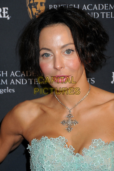 LISA MARIE FALCONE .17th Annual BAFTA Los Angeles Awards Season Tea Party held at the Four Seasons Hotel, Beverly Hills, California, USA, 15th January 2011..portrait headshot strapless green lace silver cross necklace make-up  .CAP/ADM/BP.©Byron Purvis/AdMedia/Capital Pictures.