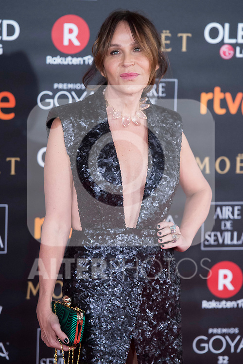 Antonia San Juan attends red carpet of Goya Cinema Awards 2018 at Madrid Marriott Auditorium in Madrid , Spain. February 03, 2018. (ALTERPHOTOS/Borja B.Hojas)