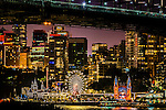 The night lights and colours of Luna Park and North Sydney, NSW, Australia