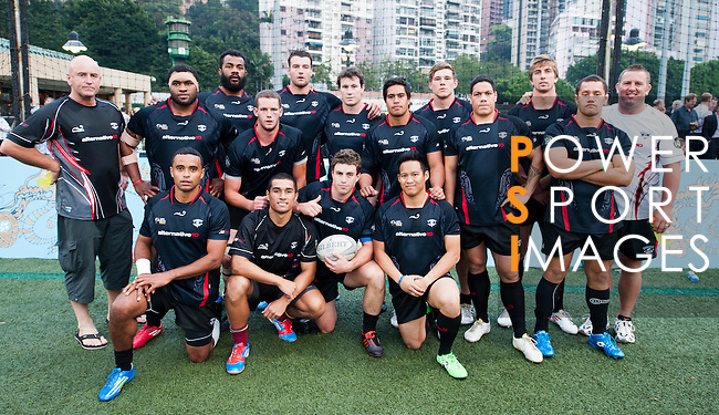 New Zealand Legends during Day 2 of the GFI HKFC Tens 2012 at the Hong Kong Football Club on March 22, 2012. Photo by Felix Ordonez / The Power of Sport Images for HKFC