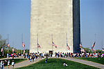 Flags At Half Mast, Washington Monument