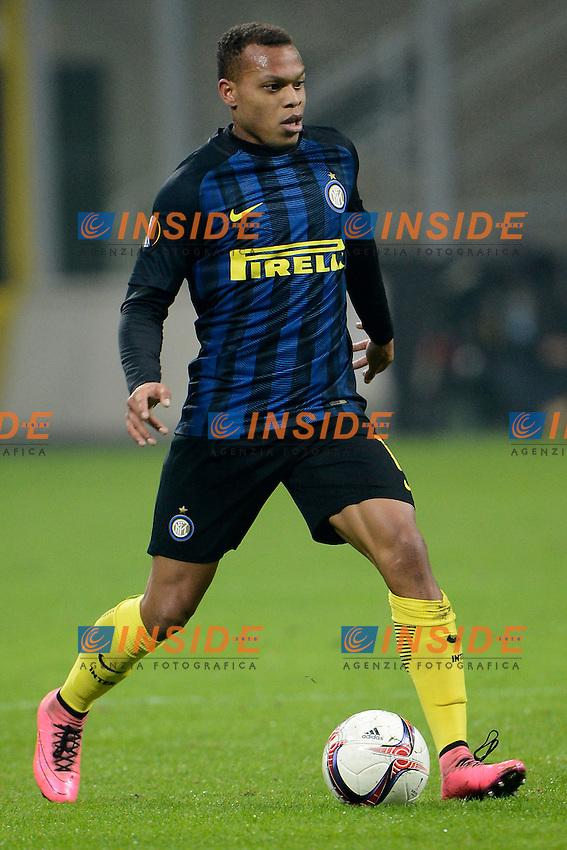 Jonathan Biabiany Inter<br /> Milano 8-12-2016 Stadio Giuseppe Meazza - Football Calcio Europa League Inter - Sparta Praga. Foto Giuseppe Celeste / Insidefoto