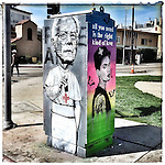 Another great piece of Urban Art of Bernie Sanders and Ruby Rose, the artist of this great urban art is @teach1 this photo was taken on April 24, 2016 ©Fitzroy Barrett