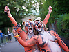 Streak for Tigers at ZSL London Zoo<br /> 11 August, 2016<br /> <br /> ZSL London Zoo, Regent's Park, London, Great Britain <br /> <br /> <br /> Fearless fundraisers will be unleashing their inner animal and prowling as nature intended around the heart of the Regent&rsquo;s Park Zoo to help tigers.<br />  <br /> A group of tigers may be known as a streak, but sadly seeing any number of them in the wild is increasingly unlikely, with their numbers dwindling due to the serious threats they face. <br />  <br /> ZSL London Zoo, run by international conservation charity the Zoological Society of London (ZSL), is working tirelessly to protect tigers and their habitats around the world, and is encouraging feline fans to help raise big cash for the big cats.<br />  <br /> <br /> Photograph by Elliott Franks <br /> Image licensed to Elliott Franks Photography Services