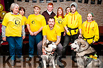 Sera Huskey Animal Rescue: Maurice Enright front centre with other members of the Sera Huskey Animal Rescue pictured at their fund raising event at Christies Bar, Listowl on Saturday night last.