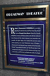 Theatre Marquee unveiling for 'Rodgers and Hammerstein's Cinderella'. The show marks the Broadway premiere for the musical, which was written for television in 1957 by the legendary musical theatre duo Richard Rodgers and Oscar Hammerstein II. the Broadway Theater in New York City on 11/13/2012