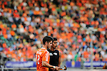 The Hague, Netherlands, June 10: Arun Panchia #24 of New Zealand and Robbert Kemperman #12 of The Netherlands in action during the field hockey group match (Men - Group B) between New Zealand and The Netherlands on June 10, 2014 during the World Cup 2014 at Kyocera Stadium in The Hague, Netherlands. Final score 1-1 (0-1) (Photo by Dirk Markgraf / www.265-images.com) *** Local caption ***
