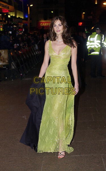 "TASHA DE VASCONCELAS.""Lord of the Rings"" premiere, Leicester Square.long green dress.Ref: HT.www.capitalpictures.com.sales@capitalpictures.com.© Capital Pictures"