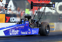 Jul 29, 2016; Sonoma, CA, USA; NHRA top fuel driver Bill Litton during qualifying for the Sonoma Nationals at Sonoma Raceway. Mandatory Credit: Mark J. Rebilas-USA TODAY Sports