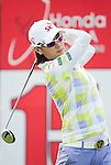 CHON BURI, THAILAND - FEBRUARY 16:  Na Yeon Choi of South Korea tees off on the 15th hole during day one of the LPGA Thailand at Siam Country Club on February 16, 2012 in Chon Buri, Thailand.  Photo by Victor Fraile / The Power of Sport Images