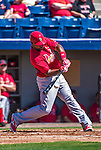 9 March 2014: St. Louis Cardinals outfielder Joey Butler in action during a Spring Training game against the Washington Nationals at Space Coast Stadium in Viera, Florida. The Nationals defeated the Cardinals 11-1 in Grapefruit League play. Mandatory Credit: Ed Wolfstein Photo *** RAW (NEF) Image File Available ***