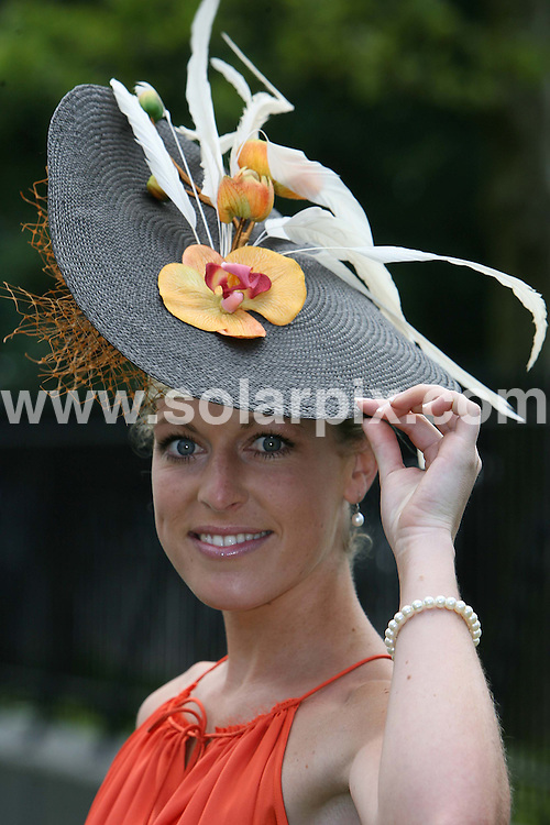 **ALL ROUND PICTURES FROM SOLARPIX.COM**.**NO UK NEWSPAPER PUBLICATION **UK MAGAZINE & SUPPLEMENT PUBLICATION ONLY** AND NO PUBLICATION IN FRANCE, SCANDINAVIA, AUSTRALIA AND GERMANY** .Royal Ascot ladies day at the Royal ascot race course a chance for the ladies to show there flamboyant fashion..JOB REF:6684-SFE       DATE:19-06_08 .**MUST CREDIT SOLARPIX.COM OR DOUBLE FEE WILL BE CHARGED* *UNDER NO CIRCUMSTANCES IS THIS IMAGE TO BE REPRODUCED FOR ANY ONLINE EDITION WITHOUT PRIOR PERMISSION*