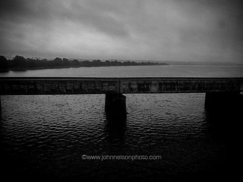 Overcast day over the Potomac River, Washington, DC