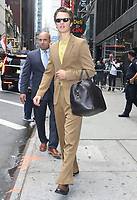 NEW YORK, NY- September 09: Ansel Elgort seen exiting at Good Morning America after promoting his new movie The Goldfinch on September 09, 2019  in New York City. <br /> CAP/MPI/RW<br /> ©RW/MPI/Capital Pictures