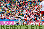 Paul Murphy, Kerry in action against Matthew Donnelly, Tyrone during the All Ireland Senior Football Semi Final between Kerry and Tyrone at Croke Park, Dublin on Sunday.
