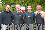 Peter Gasney Listry, Joe O'Shea, Niall Collins and Michael Riordan Killarney at the Killarney Lions club triathlon at Ross Castle on Saturday ..