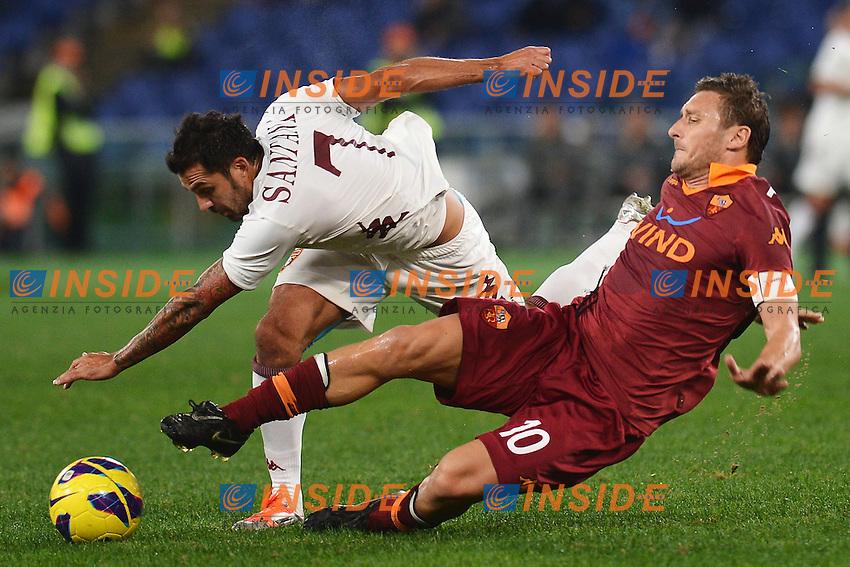 Mario Alberto Santana Torino, Francesco Totti Roma.Roma 19/11/2012 Stadio Olimpico.Football Calcio 2012/2013 Serie A.Roma Vs Torino.Foto Andrea Staccioli Insidefoto
