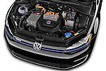 Car stock 2015 Volkswagen Beetle 1.8T Conv. auto 2 Door Convertible engine high angle detail view