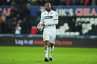 Leroy Fer of Swansea City at full time during the Sky Bet Championship match between Swansea City and Sheffield United at the Liberty Stadium in Swansea, Wales, UK. Saturday 19 January 2019