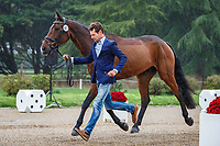 AUS-Christopher Burton presents Coup de Coeur Dudevin during the First Horse Inspection for the CCI3*-L7YO. 2019 FRA-Mondial du Lion - FEI World Breeding Championships. Le Lion d'Angers. France. Wednesday 16 October. Copyright Photo: Libby Law Photography
