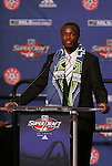 15 January 2009: Steve Zakuani (ENG) was selected with the first overall draft pick by expansion team Seattle Sounders FC. The 2009 Major League Soccer SuperDraft was held at the Convention Center in St. Louis, Missouri in conjuction with the National Soccer Coaches Association of America's annual convention.