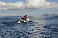 Heading up Lake Titicaca in Bolivia to Isla del Sol. Birthplace of the Inca sun-god. (elev 4000m asl)