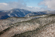 View from along the Mt Parker Trail, near the summit of Mount Resolution, in the White Mountains, New Hampshire USA.