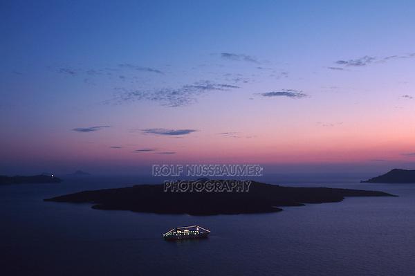 Cyclades island at dawn, Cyclades,  Santorin Greece, Greece, Europe