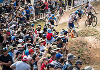 Picture by Alex Broadway/SWpix.com - 09/09/17 - Cycling - UCI 2017 Mountain Bike World Championships - XCO - Cairns, Australia - Grant Ferguson of Great Britain competes in the Men's Elite XCO Final.